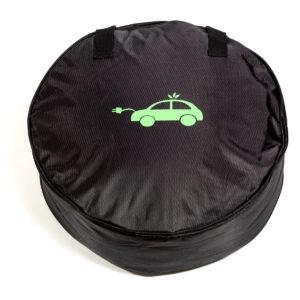 Tasche für Ladekabel E Auto rund Vorderseite
